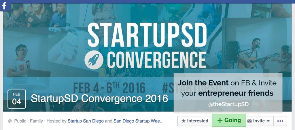 StartupSD Convergence 2016 Event on Facebook