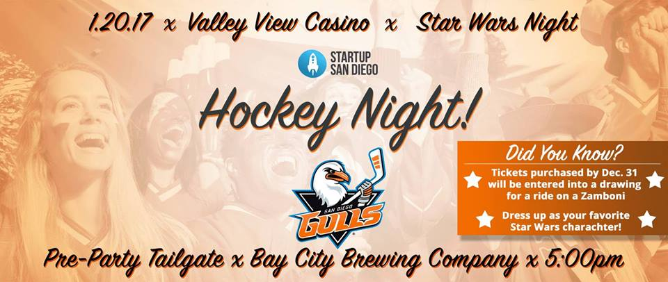 Startup SD x San Diego Gulls present Hockey Night @ Bay City Brewing Co