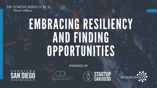 Embracing Resiliency & Finding Opportunities (Startup Series: Workshop 2 of 5) @ Virtual Workshop