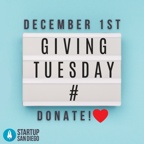 San Diego Startup Giving tuesday