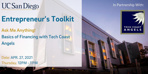 Entrepreneur's Toolkit: Tech Coast Angels Presents Basics of Financing @ Online