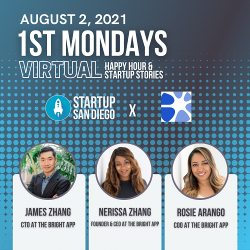 August 1st Mondays with Founder of The Bright App @ Online